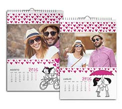 Calendario Multipagina A3 Raining hearts