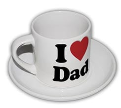 Tazza caffè Americano Love dad