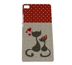 Cover Huawei P8 3D Cats in love