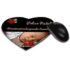 Tappetino mouse cuore Black Christmas
