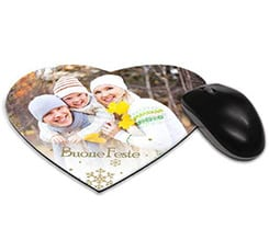 Tappetino mouse cuore White Christmas