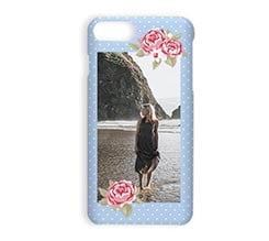 Stampa Cover iPhone 7 Plus 3D Shabby blue