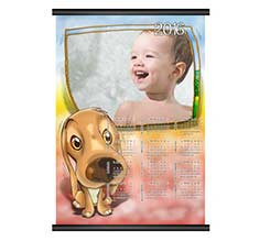 Calendario A3 pagina singola Lovely dog