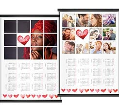 Calendario A3 pagina singola Love collage