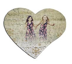 Puzzle cuore in masonite A3 White Christmas
