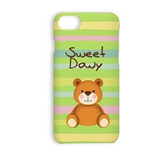Cover iPhone 7 3D Teddy