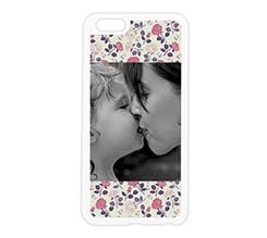 Cover in silicone iPhone 6 Plus Texture di rose