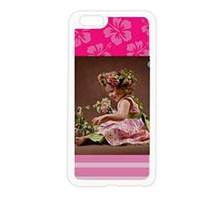Cover in silicone iPhone 6 Plus Pink Hawaii