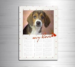 Calendario magnetico A3 My love