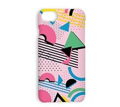 Cover iPhone 7 3D Pink abstract