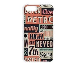 Cover iPhone 7 Plus 3D Vintage words
