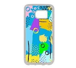 Cover Galaxy S7 in Silicone Abstract colors