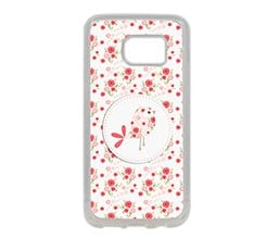 Cover Galaxy S7 in Silicone Pink birds