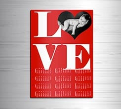 Calendario magnetico A3 Big Love