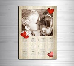 Calendario magnetico A3 Love Hearts