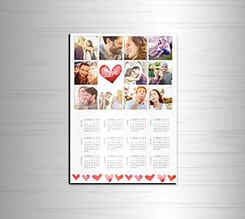 Calendario magnetico A4 Love Cuori