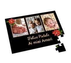 Puzzle in Legno Small Black Christmas