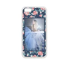 Cover in Silicone iPhone 5-5S Texture rose