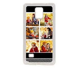 Cover Galaxy Note 4 Silicone Black collage