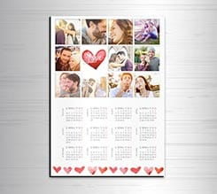 Calendario magnetico A3 Love Cuori