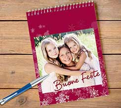 Block Notes A4 Spirale Buone feste