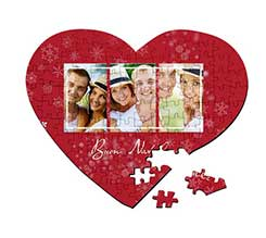 Puzzle cuore A3 Red Christmas