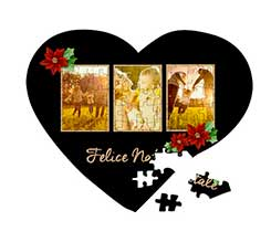 Puzzle cuore A3 Black Christmas