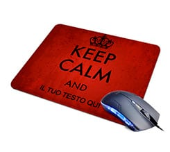 Tappetino Mouse in Pelle Keep calm