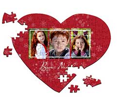 Puzzle cuore A4 Red Christmas