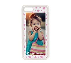 Cover in Silicone iPhone 7 Stelline rosa