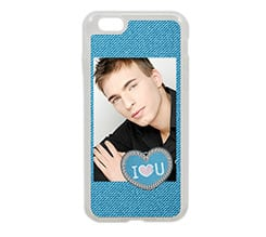 Cover iPhone 6 in silicone Love jeans