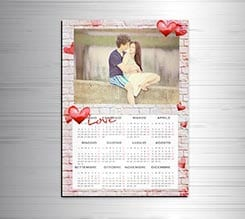Calendario magnetico A3 Love of wall
