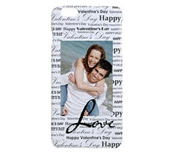 Cover 3D iPhone 6 Plus Black words