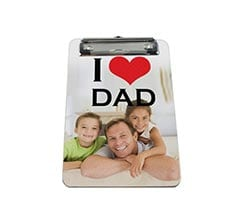 Portablocco A5 in masonite I love dad