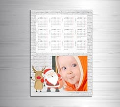 Calendario magnetico A3 Babbo on Wall