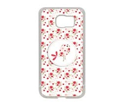 Cover Galaxy S6 Silicone Pink bird