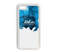 Cover in Silicone iPhone 7 Blue brush