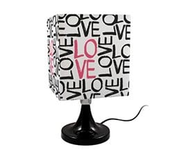 Lampada Quadrata Rotante Love words