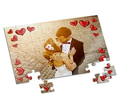 Puzzle A4 Frame in love