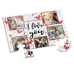 Puzzle A4 I love you collage