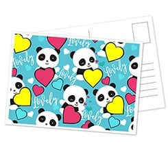 Cartolina Lovely panda