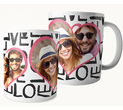 Tazza panoramica Love words
