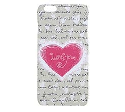 Cover 3D iPhone 6 Plus Pink heart