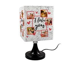 Lampada Quadrata Rotante I love you collage