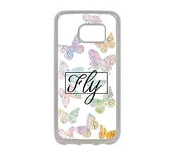 Cover Galaxy S7 in Silicone Farfalle