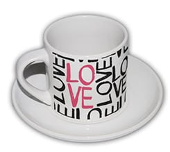 Tazza caffè Americano Love words