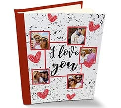 Album Retro Pelle I love you collage