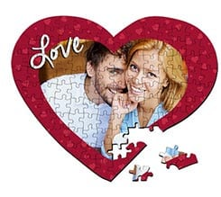 Puzzle cuore A3 Red love