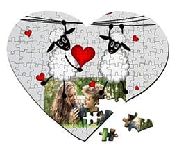 Puzzle cuore A3 Sweet sheeps