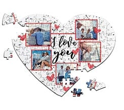 Puzzle cuore A4 I love you collage